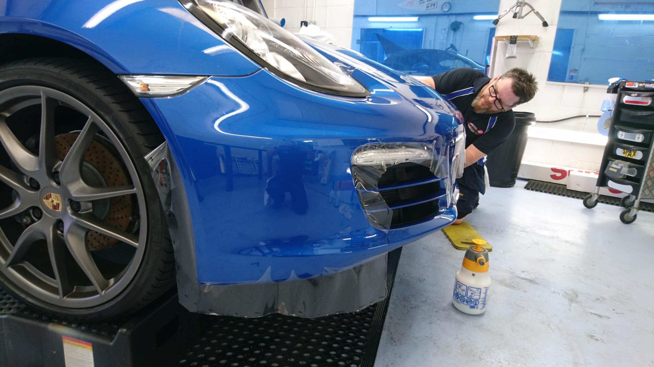 Paint Protection Film being applied